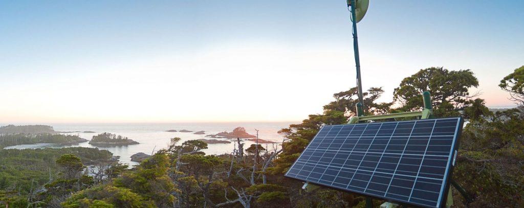 Solar Panel in at Hakai Institute