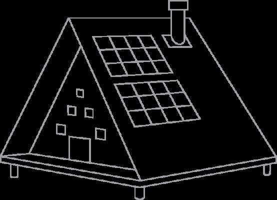Grey cabin logo